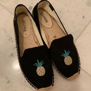 Soludos Pineapple Espadrille Slip on Loafers